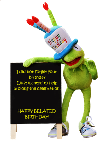happy belated birthday images