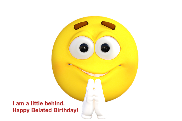 Happy Belated Birthday Emoji