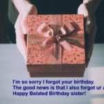 Happy Belated Birthday For Sister