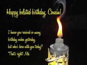Happy birthday, cousin!