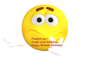 Happy Belated Birthday Emoji
