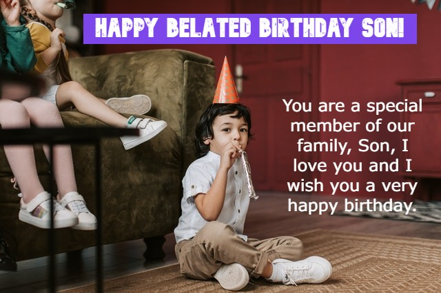Happy Belated Birthday son images