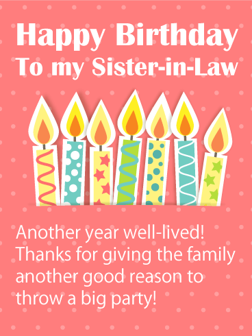 Happy Birthday Sister in Law Images